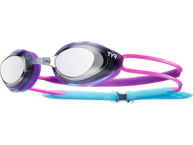 TYR Black Hawk Racing Laskettelulasit Peili Lapset, purple/black